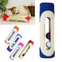 Rolling Sisal Scratching Post With 3 Internal Balls