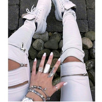 Fashion Pants For Winter With Zipper = 1933338884
