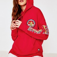 Tommy Jeans Red Pullover Hoodie | Urban Outfitters
