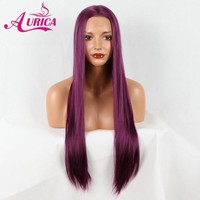 Aurica Purple Heat Safe Synthetic Hair Lace Front Wig For Women