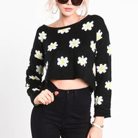 FRESH AS A DAISY CROPPED SWEATER