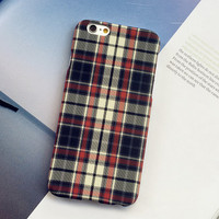 Retro Grid creative case Cover for iPhone 5s 6 6s Plus Gift-150