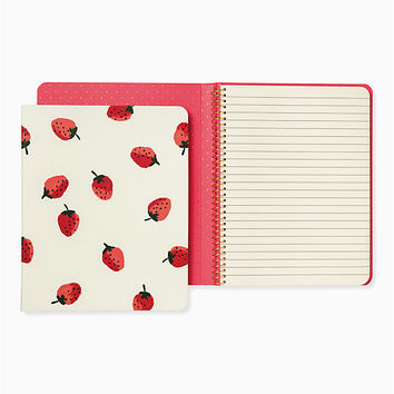 Strawberries Concealed Spiral Notebook