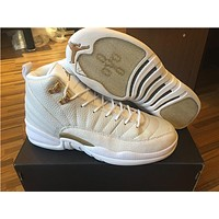 Air Jordan 12 Retro Xii Ovo White Basketball Shoes Sports Sneakers