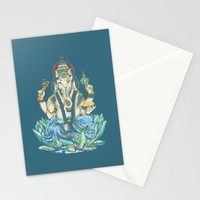 Ganesh  Stationery Cards by Kristy Patterson Design