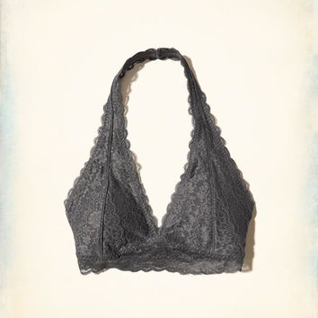 Girls Removable-Pads Lace Halter Bralette | Girls New Arrivals | HollisterCo.com