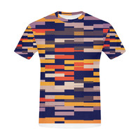 Rectangles in retro colors All Over Print T-Shirt for Men (USA Size) (Model T40) | ID: D1438632