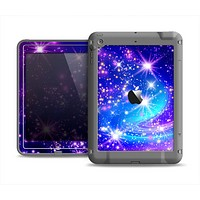 The Glowing Pink & Blue Starry Orbit Apple iPad Air LifeProof Fre Case Skin Set