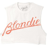 Blondie  Tilted Logo Junior Top White