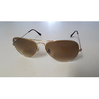 RAYBAN RB3025 AVIATOR GOLD FRAME & GRADIENT BROWN LENS 58MM LARGE AUTHENTIC