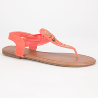 Celebrity Nyc Grandstep Womens Sandals Coral  In Sizes