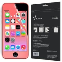 i-Blason HD Matte Bubble Free Screen Protector for Apple iPhone 5C Reusable Anti Glare (AT&T, Verizon, Sprint, T-Mobile, All Carriers) (Red)