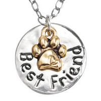 Best Friend Gold Plated Paw Necklace
