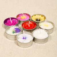 Mixed Flowers T-Light Candles - Urban Outfitters