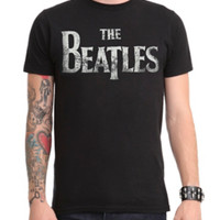 The Beatles Distressed Logo T-Shirt