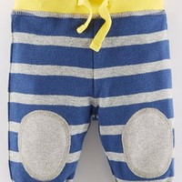 Infant Boy's Mini Boden Knee Patch Reversible Cotton Pants,