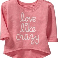 High-Low Graphic Tees for Baby