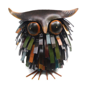 Spiky Owl Sculpture