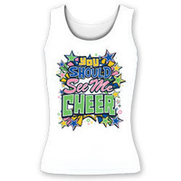 You Should See Me Cheer Fitted Tank Top for Cheerleading