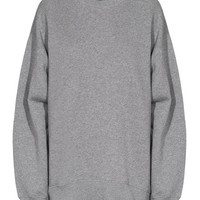 ACNE Beta Fleece Light Grey Oversize-Sweatshirt - What's new