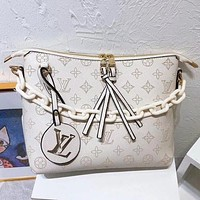 LV Louis Vuitton Pinhole Embroidered Letters Ladies Chain Crossbody Bag Shoulder Bag Shopping Bag