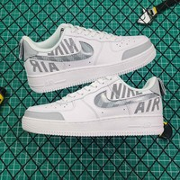 Nike Air Force 1 AF1 Low White/ Grey Fashion Sneakers - Best Online Sale