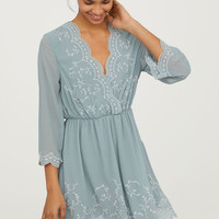 Embroidered Dress - from H&M