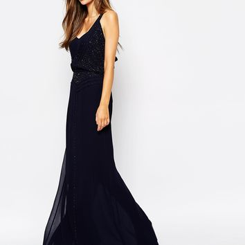 French Connection Eivissa Maxi Dress with Beading