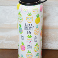 Natural Life Water Bottle - Pineapple Life