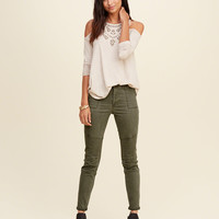 Hollister High Rise Military Super Skinny