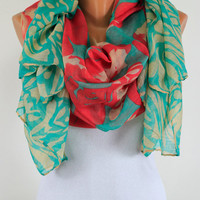 Scarf, Oversize, For Her, Women  Fashion, Accessories, Spring Summer Fall Winter, Gift idea, Silky, Shawl, Wrap, Foulard, Scarves,  Coverup