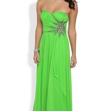 Dress with Sweetheart Neck and Stone Burst
