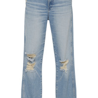 W3 Distressed Straight-Leg Jeans | Moda Operandi