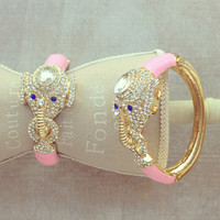 Pree Brulee - Pink Enchanted Elephant Bangle