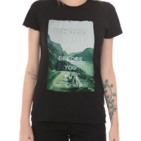 Sleeping With Sirens Fall Before Fly Lyric Girls T-Shirt