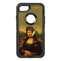 Mona Lisa With Bandaged Ear Van Gogh Hat And Pipe OtterBox Defender iPhone 7 Case