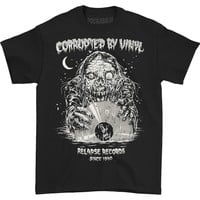 Relapse Records Men's  Corrupted By Vinyl T-shirt Black