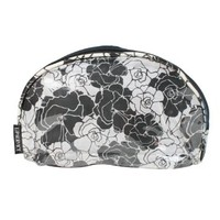 Rose Cosmetic Travel Bag (Black and White)