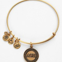 Women's Alex and Ani 'Alpha Omicron Pi' Expandable Wire Bangle