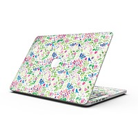 Butterflies and Flowers Watercolor Pattern V2 - MacBook Pro with Retina Display Full-Coverage Skin Kit