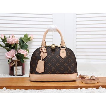 LV Louis Vuitton WOMEN'S MONOGRAM CANVAS ALMA BB HANDBAG SHOULDER BAG