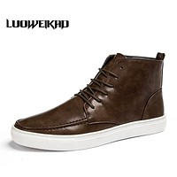 PU Leather Boots Men Social Shoes Male Adults Ankle Boots