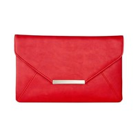 Style & Co. Womens Lily Faux Leather Lined Clutch Handbag