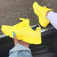 Yellow NIKE Air Presto Fashion Casual Running Sport Sneakers Shoes