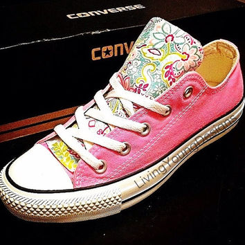 Custom Converse Low Top Sneakers Floral Chuck Taylors