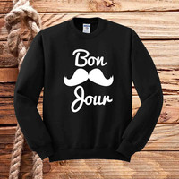 born mustache sweater unisex adults