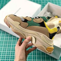 Balenciaga Triple-S grey /Yellow / green Sneaker