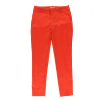 Calvin Klein Womens Stretch Flat Front Casual Pants