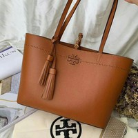 Beauty Ticks Tb Tory Burch Women's Leather Handbag Tote Bag #4635