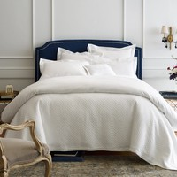Juliet White Coverlets and Shams by Peacock Alley